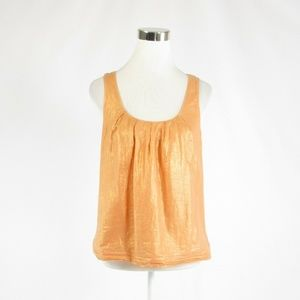 J.Crew light orange shimmery tank top blouse 8
